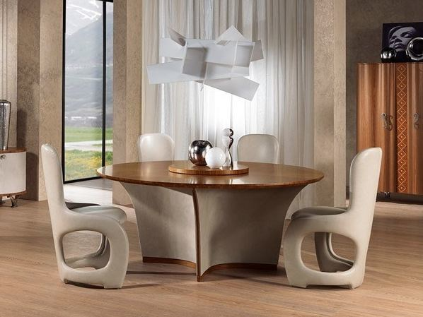 Round table with Lazy Susan ORIGINAL LIFESTYLE | Round table - Carpanelli Contemporary