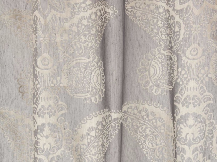Synthetic fibre fabric with floral pattern for curtains DEVORE DAMASK by Gancedo