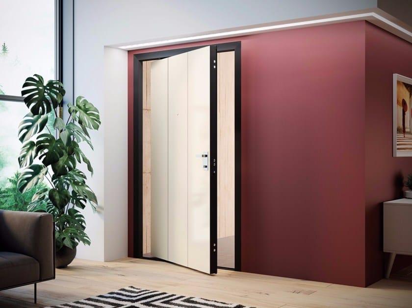 Porta d 39 ingresso a bilico blindata di big dibi porte - Maniglia porta ingresso ...