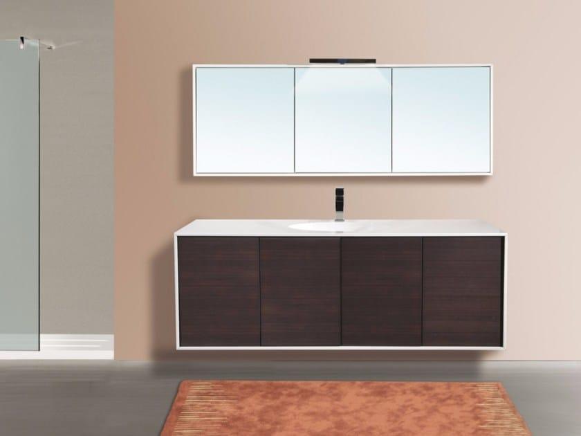 Wall-mounted vanity unit with mirror DIADEMA CM06DD by LA BUSSOLA