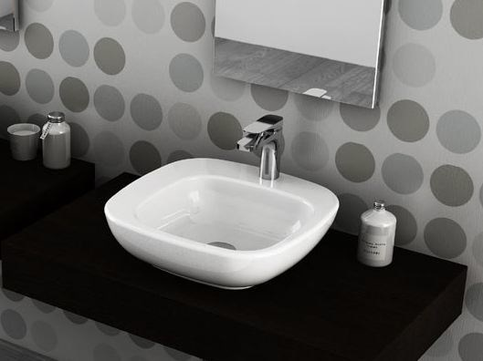 Countertop square ceramic washbasin DIAL | Countertop washbasin - Hidra Ceramica
