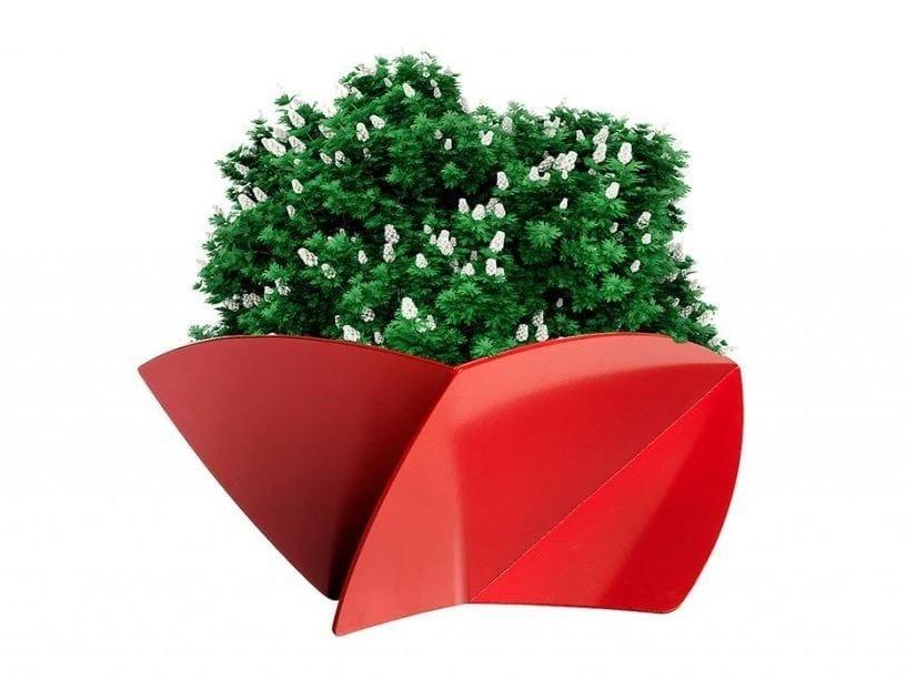 Powder coated steel Flower pot DIALOG | Flower pot by VESTRE