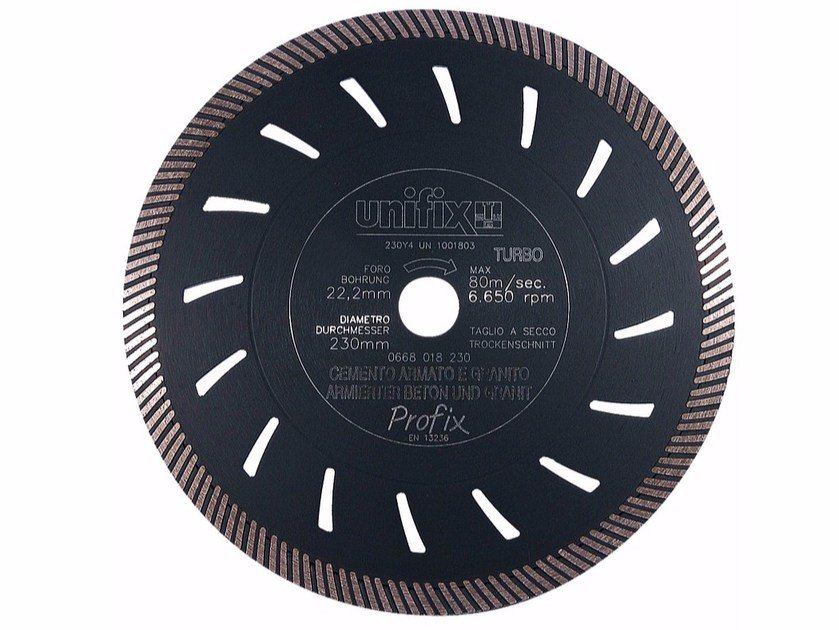 Diamond-coated Cutting Disc DIAMANT TURBO HEAVY DUTY by Unifix SWG