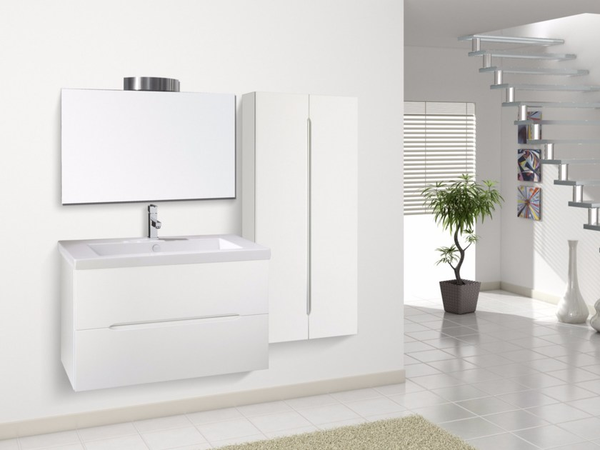 Lacquered wall-mounted vanity unit with drawers DIAMANTE CM06DI - LA BUSSOLA