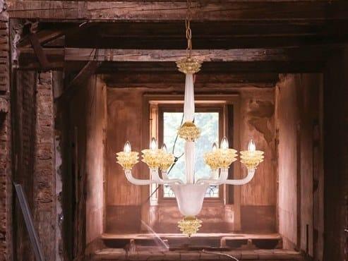 Handmade venetian crystal chandelier DIAMANTE | Handmade chandelier - MULTIFORME