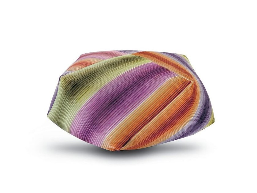 Upholstered fabric pouf with removable lining DIAMANTE - MissoniHome