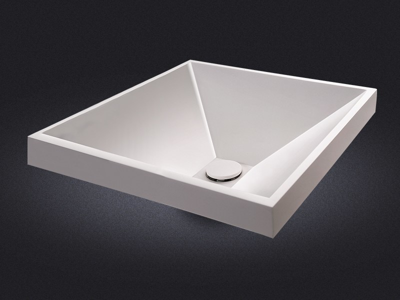 Countertop square resin washbasin DIAMANTE | Square washbasin - Vallvé Bathroom Boutique