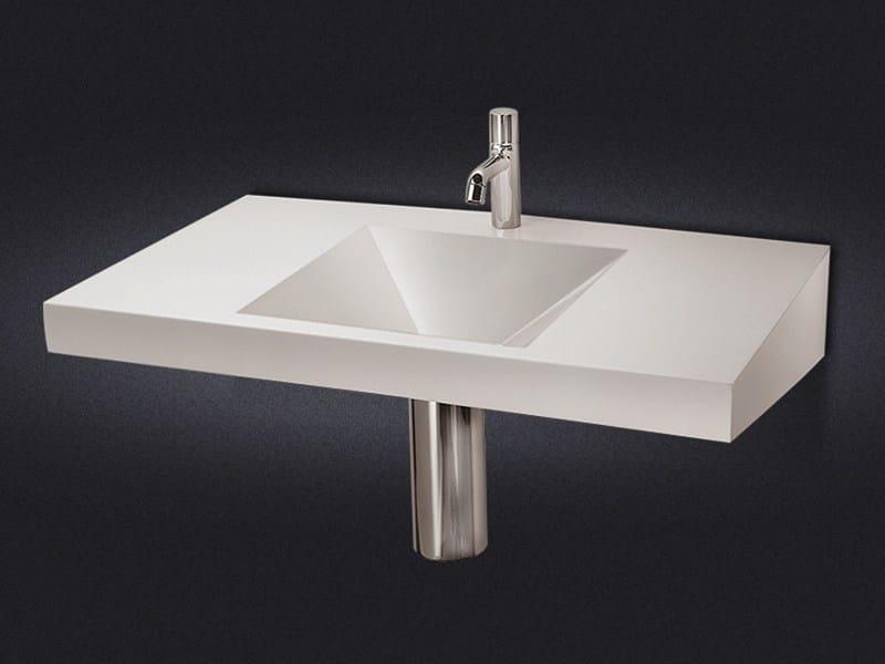 Rectangular wall-mounted resin washbasin DIAMANTE | Wall-mounted washbasin - Vallvé Bathroom Boutique