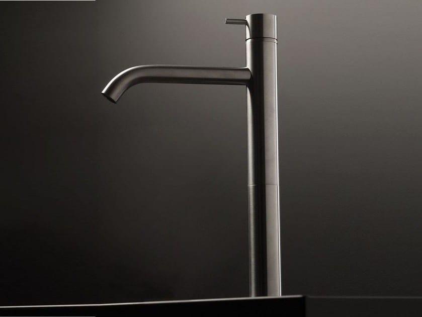 Single handle stainless steel washbasin mixer DIAMETRO35 INOX | Single handle washbasin mixer - RUBINETTERIE RITMONIO