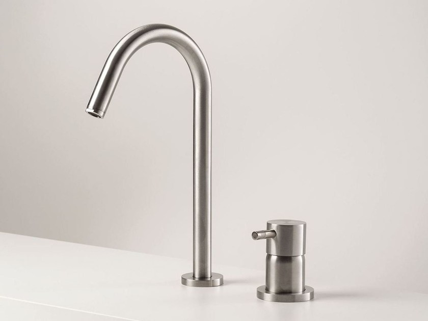 Exposed single lever basin mixer