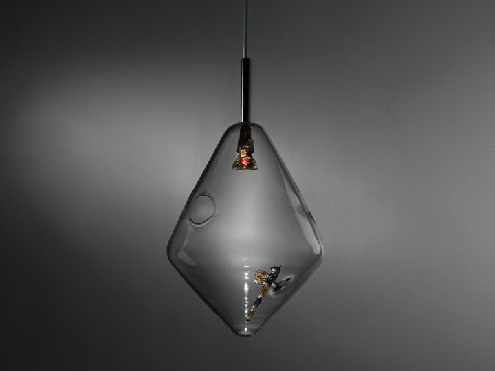Handmade glass pendant lamp DIAMOND - ILIDE italian light design