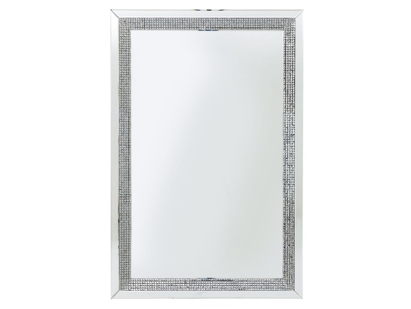 Rectangular wall-mounted framed mirror DIAMONDS - KARE-DESIGN