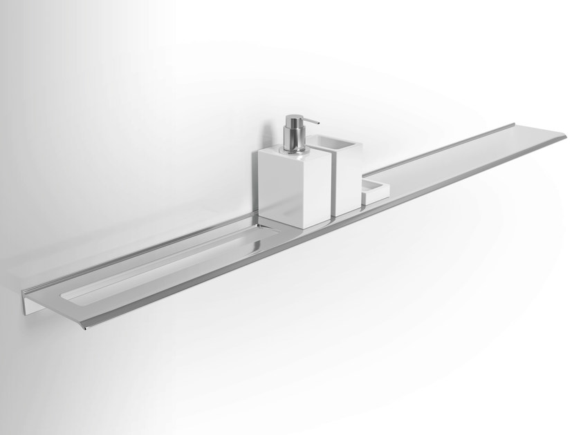 Wall-mounted wall-mounted metal bathroom wall shelf DIANTHA | Metal bathroom wall shelf by Alna