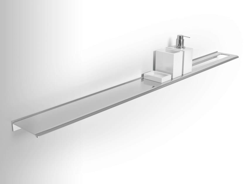 Wall-mounted wall-mounted metal bathroom wall shelf DIANTHA | Bathroom wall shelf - Alna