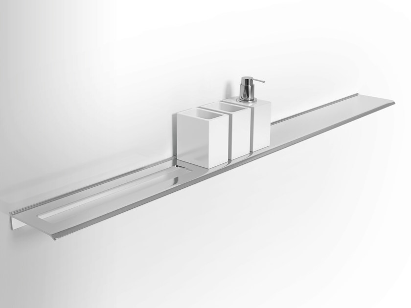 Wall-mounted metal bathroom wall shelf DIANTHA | Bathroom wall shelf by Alna