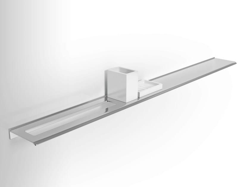 Wall-mounted metal bathroom wall shelf DIANTHA | Soap dish - Alna