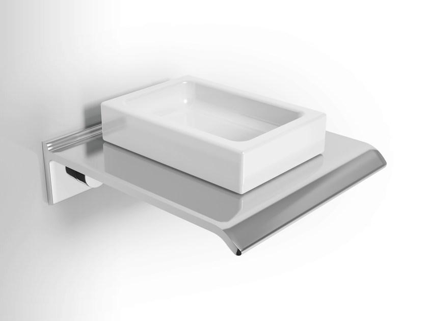 Wall-mounted ceramic soap dish DIANTHA | Soap dish - Alna