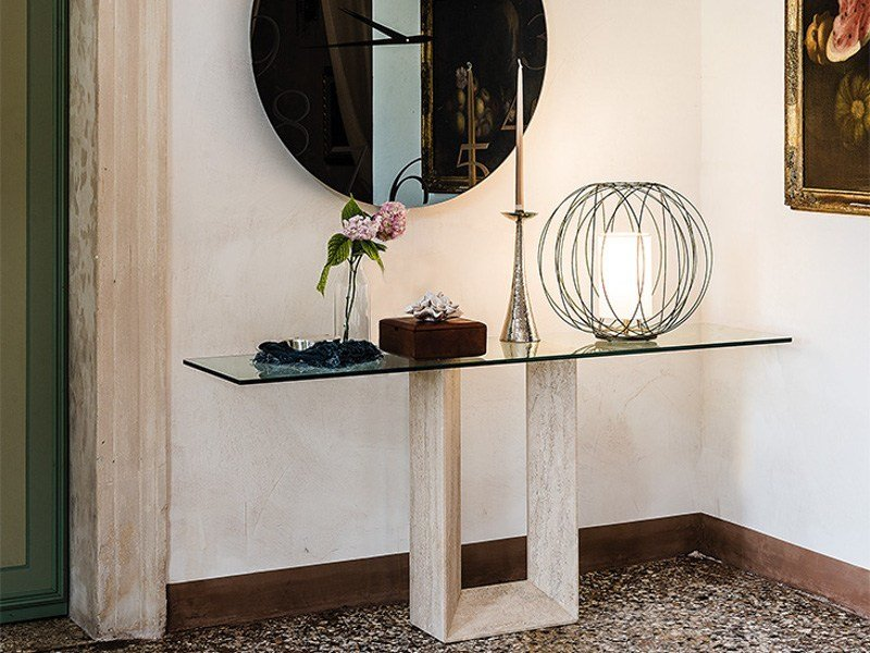 Rectangular crystal console table DIAPASON | Console table - Cattelan Italia