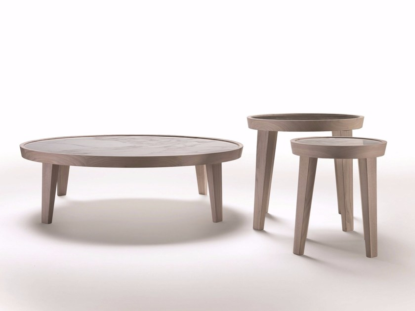 Tavolino rotondo in marmo DIDA | Tavolino rotondo - FLEXFORM