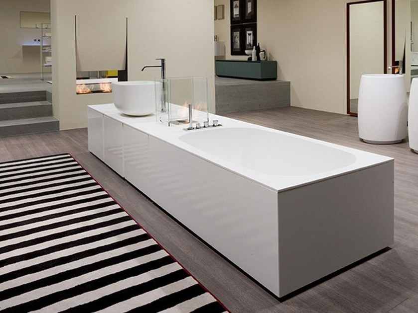 Rectangular Corian® bathtub DIMORA | Bathtub - Antonio Lupi Design®
