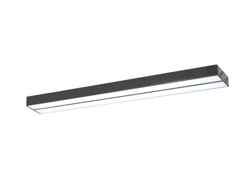 LED direct light extruded aluminium ceiling lamp DINAMICA | Ceiling lamp - PLEXIFORM