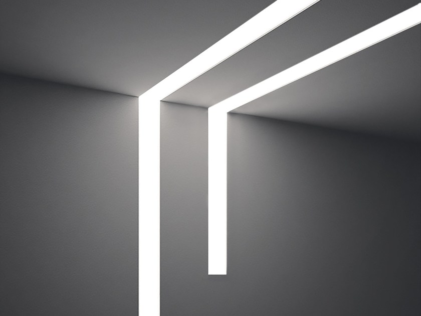 Built-in aluminium lighting profile for LED modules DINAMICA | Lighting profile - PLEXIFORM
