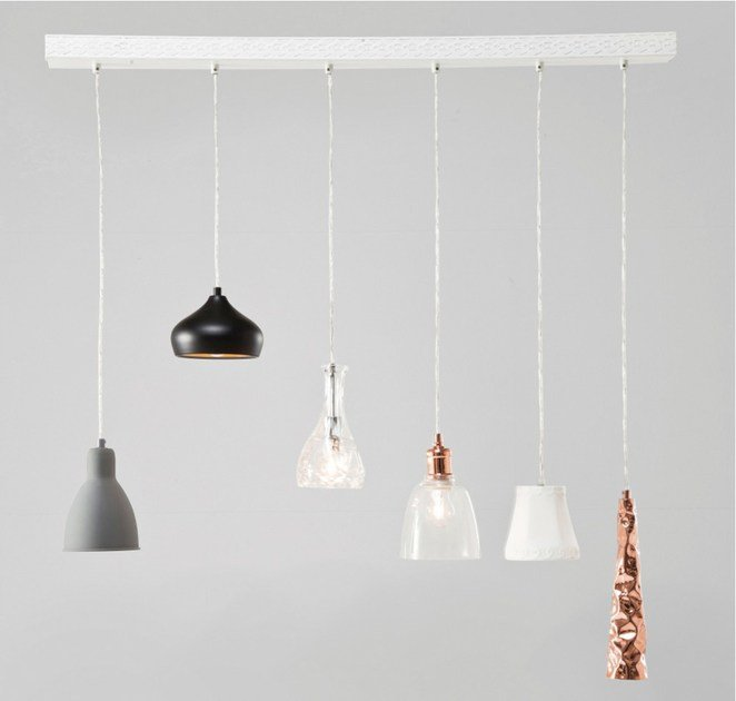 Contemporary style pendant lamp DINING 6-LITE by KARE-DESIGN
