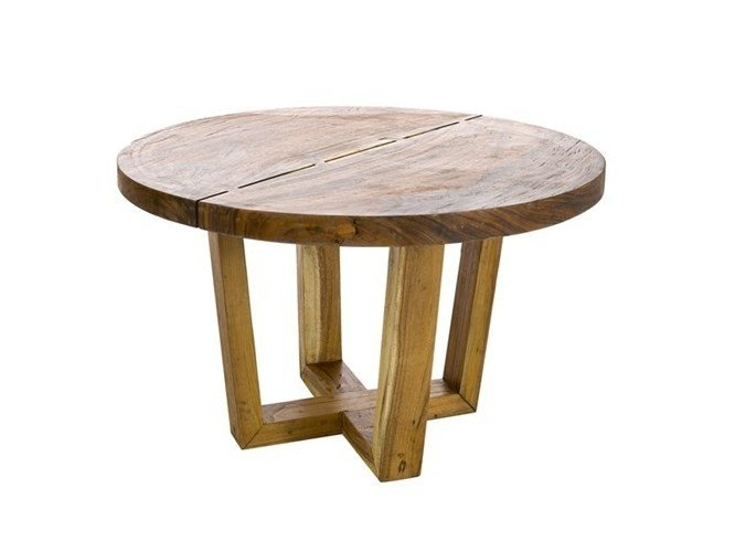 Round solid wood dining table DINING TABLE THICK ROUND SUAR WOOD - Pols Potten