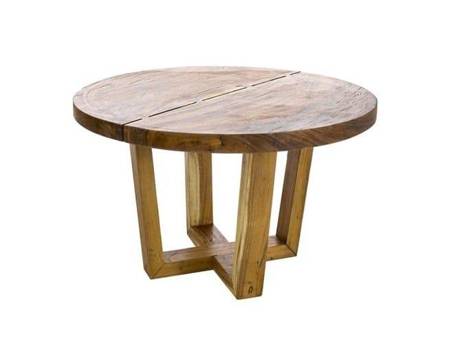 Tavolo da pranzo rotondo in legno massello DINING TABLE THICK ROUND SUAR WOOD - Pols Potten
