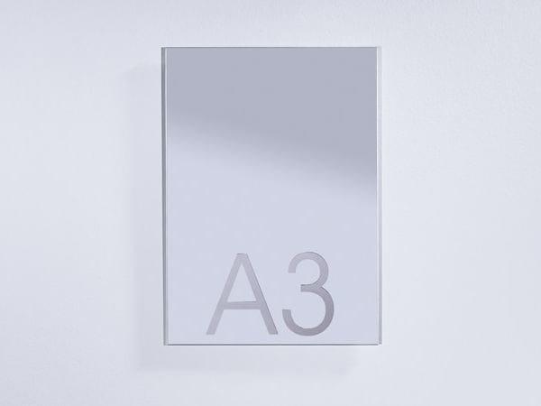 Rectangular wall-mounted mirror DINA 3 - DEKNUDT MIRRORS