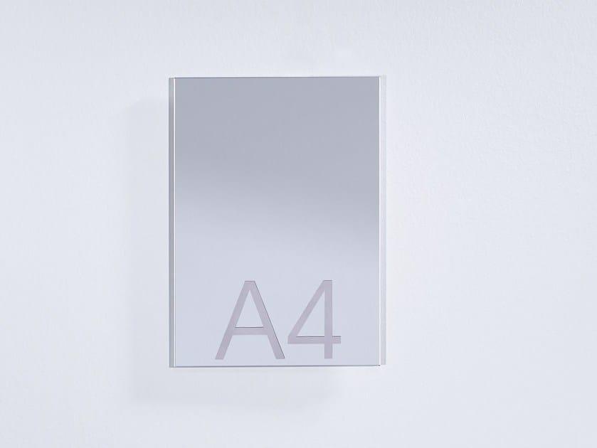Rectangular wall-mounted mirror DINA 4 - DEKNUDT MIRRORS