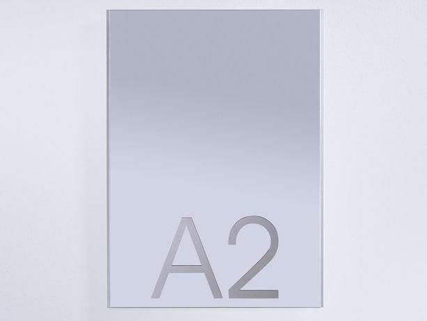 Rectangular wall-mounted mirror DINA 2 - DEKNUDT MIRRORS