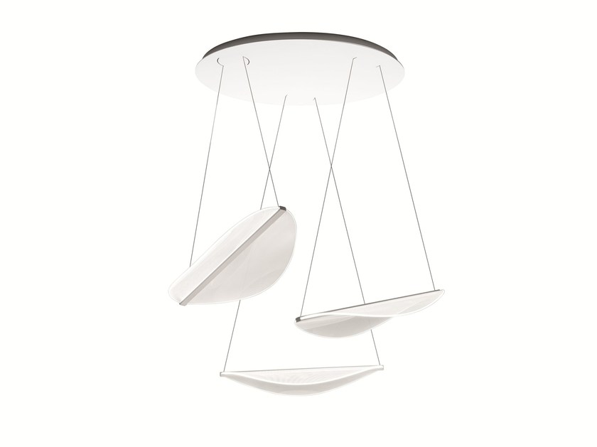 LED direct light PMMA pendant lamp DIPHY_P by Linea Light Group