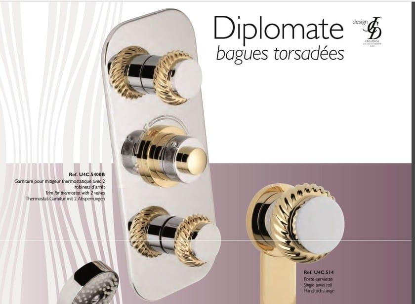 Miscelatore termostatico per doccia in metallo in stile classico con doccetta con finitura lucida DIPLOMATE | Miscelatore termostatico per doccia - INTERCONTACT