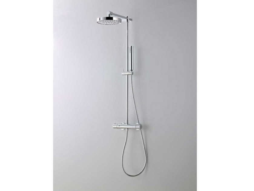 Thermostatic shower panel with hand shower DIRETTA by Systempool