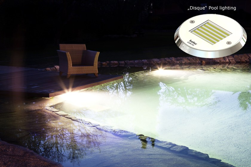 LED underwater lamp for swimming pools DISQUE by betec Licht AG