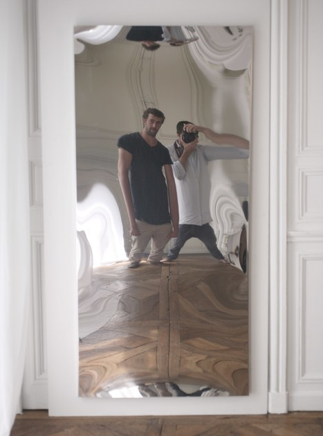 Distorting mirror DISTORTING MIRROR | Rectangular mirror by VIDAME CREATION