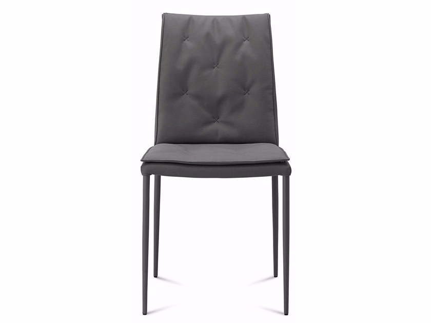 Tufted chair with removable cover DIVA | Chair - DOMITALIA