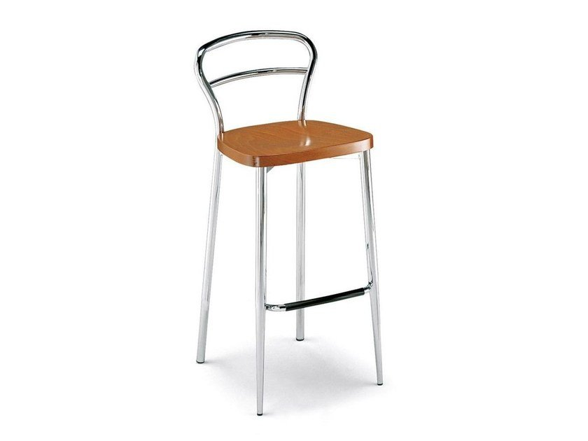 Cantilever chair with armrests DIVA | Counter stool - Calligaris