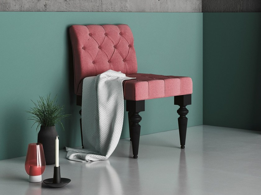 Tufted upholstered fabric easy chair DIVA by Imperial Line