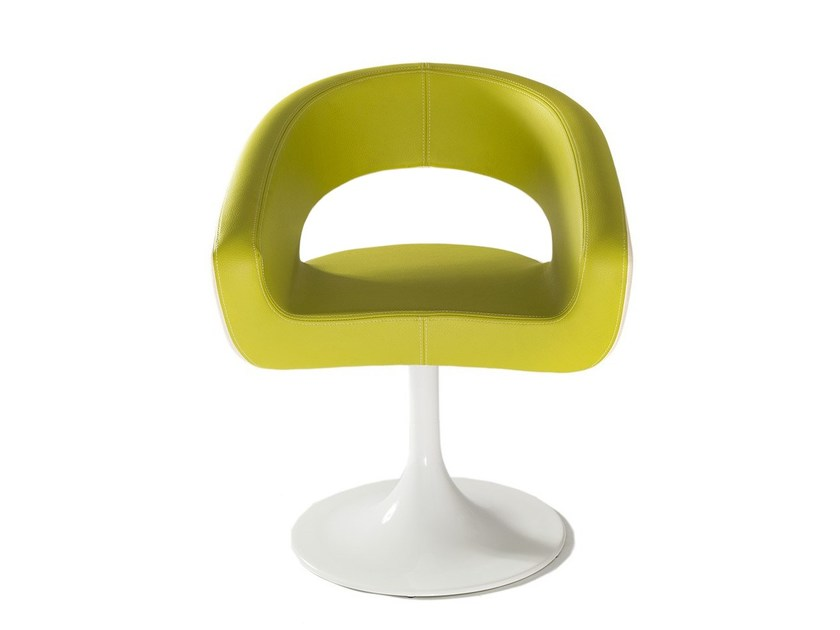 Upholstered imitation leather guest chair DIVA KONE by Vela Arredamenti