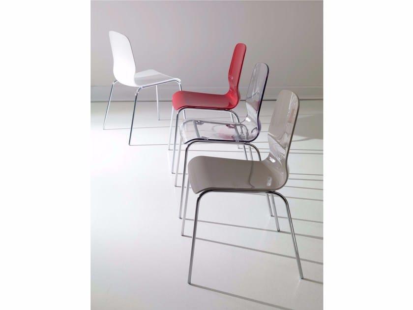 Polycarbonate chair DIVA - Ozzio Italia