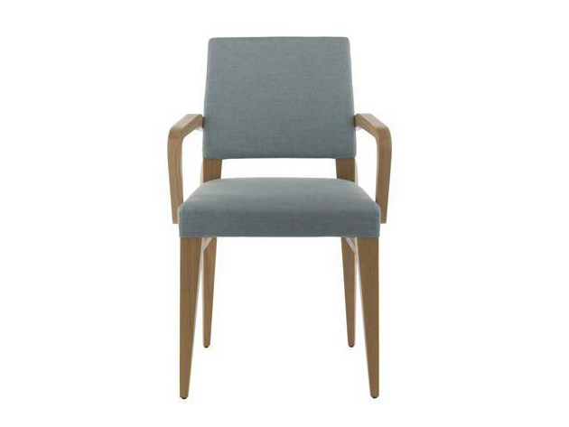 Upholstered chair with armrests DIVA | Chair with armrests - Potocco