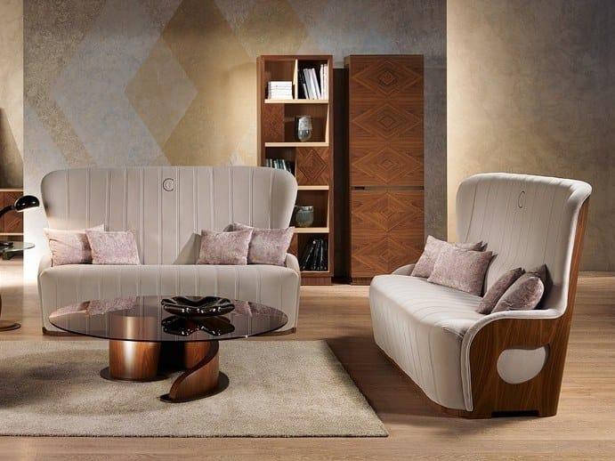2 seater leather sofa GALILEO | Sofa - Carpanelli Contemporary