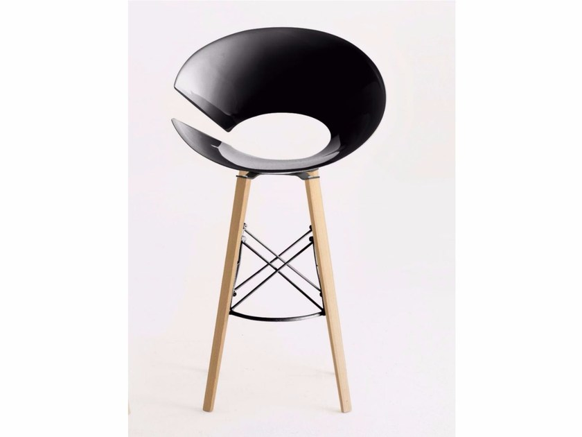 High technopolymer stool DIVAWOOD.SS by Colico
