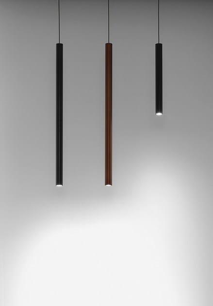 Lampada a sospensione a led a luce diretta in alluminio for Lampada tubolare led