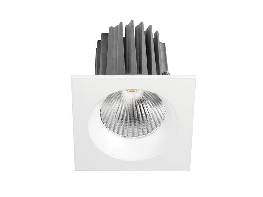 Faretto a LED quadrato in alluminio da incasso DLC 9W - LED BCN Lighting Solutions