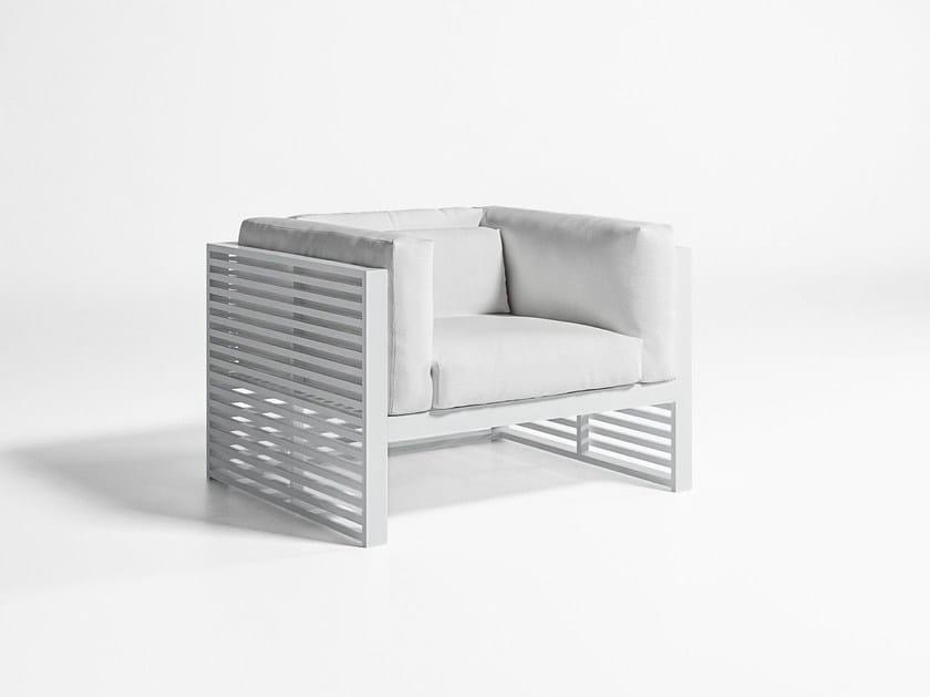 Fabric garden armchair with armrests DNA | Garden armchair - GANDIA BLASCO