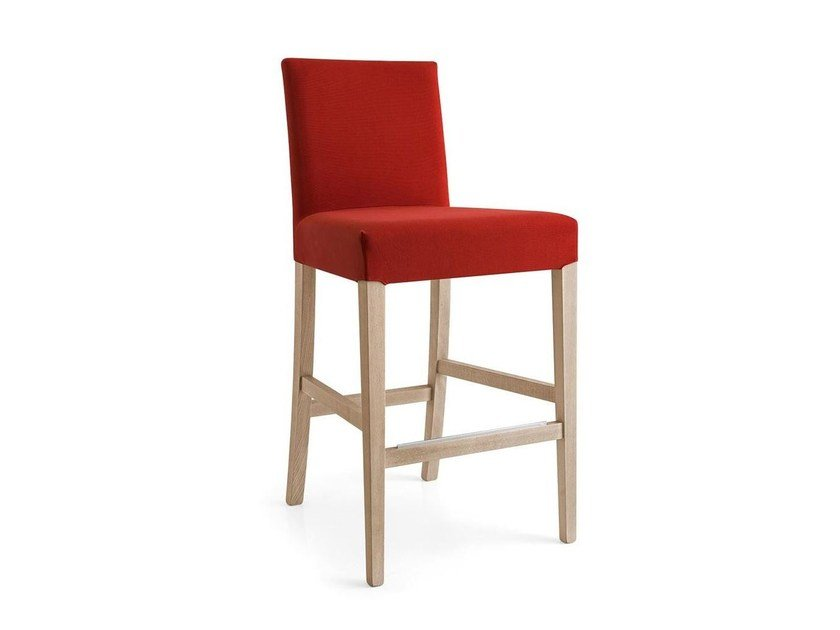 Upholstered fabric counter stool DOLCEVITA | Counter stool - Calligaris