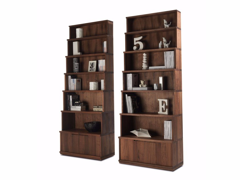 Open solid wood bookcase DOLOMITE by Riva 1920